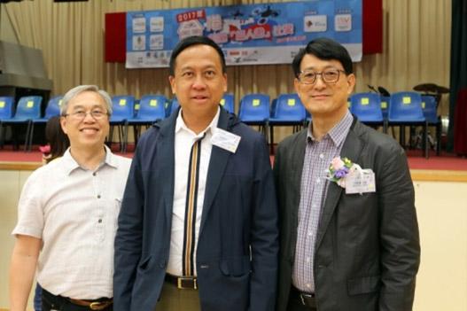 2017全港校際無人機比賽- 評審主委施家殷先生(中) -香港科技大學委會成員、校董及校園發展委員會主席