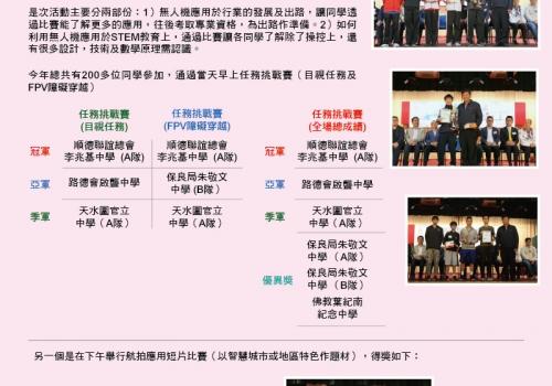 2019-04-13 2019 粵港澳大灣區青年「無人機」大賽 – 香港區選拔賽